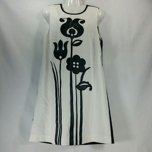 Victoria Beckham Floral Applique Shift Dress